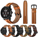 Bakeey 22mm First Layer Double Keel Genuine Leather Replacement Strap Smart Watch Band for Amazfit Smart Sport Watch 1/2S