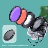 JUNESTAR for GoPro 9/8 Camera Lens Accessories 58mm Lens Ring Adapter + Diving Filter Combo