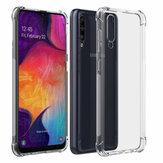 Bakeey Ar Almofada Canto Transparente TPU À Prova de Choque Protetora Caso para Samsung Galaxy A50 2019