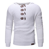 Men's Casual Knitting Buttons Overhead Hooded Sweaters