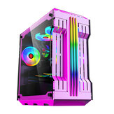 RGB Light Bar Компьютер Чехол Панели из закаленного стекла ATX Gaming Water Cooling PC Чехол E-Sports Online Cafe Desktop Game Supplies