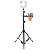 16cm 2700K-5500K Dimmable USB LED Ring Light Universal Phone Holder Adjustable Tripod Stand for Makeup Selfie Video Youtube Blog