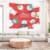 Noël suspendus tissu personnalisé rouge père noël chevet fond tissu mur chevet décoration tapisserie photographie toile de fond