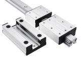 Machifit LGD12-500-1000L Guia linear Liga de alumínio de eixo duplo externo LGB12-60L 2UU Bloco para máquina CNC