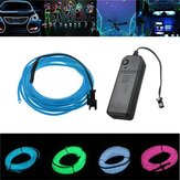 Bateria Powered 3M 8 cores flexíveis Bendable Neon EL Fio Luz para festa Dance Decor DC3V