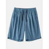 Shorts comodi da uomo con tasche traspiranti in cotone 100% casual