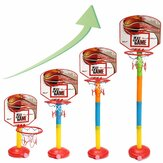 4-Gears Altura para niños al aire libre / Juego de soporte de baloncesto elevable para interiores con baloncesto + bomba Inicio Aptitud Juguetes para niños
