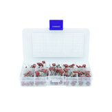100pcs 10 Values CBB Capacitor Set Metallized Polyester Film Capacitors Assortment Kit 10nF~470nF 22NF 47NF 100NF 0.47uf 0.1uf