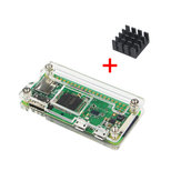 Tranparent Acrylic Case + Aluminum Heat Sink  For Raspberry Pi Zero W/V1.3