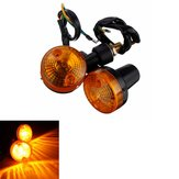 1pair Motorcycle Turn Signal Light Amber Indicator Lamp