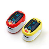 BOXYM LED Child Kids Infant Finger Pulse Oximeter Medical Pediatric Portable SpO2 Blood Oxygen Monitor for 1-12 Years Old with Rechargeable Battery