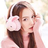 Damen Cute Rabbit Pig Pattern Warme Ohrenschützer Plüsch Ohrwärmer