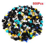 500Pcs Universal Mixed Auto Fastener Car Bumper Door Panel Fender Liner Clips Retainer Fastener Rivet