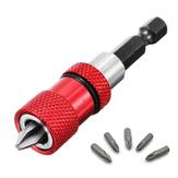 Drillpro Justerbar skruvdjup Magnetisk skruvmejsel Bithållare med 5 st PH2 Scewdriver Bits