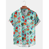 Herren New Hawaii Beach Kurzarm Print Shirts