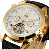 JARAGARF120504ファッション自動機械式時計の日付表示レザーストラップメンズ腕時計
