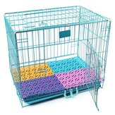 1Pc Spliced Dog Cage Special Candy Anti Skid Cushion Pet Mesh Floor Mat