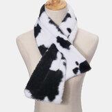 Унисекс Плюшевый Плюс Утолщенный Теплый Повседневный Корова Шаблон Универсальный Шея Защитный шарф