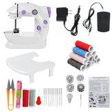 Máquina de costura elétrica portátil recarregável Mini máquina de costura doméstica c / luz