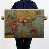 ビンテージポスターレトロクラフト紙ポスター家の装飾