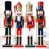 60cm Nut Cracker Soldier Juledekoration Nutcrackers Xmas Køkken Wooden Doll