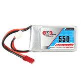 Gaoneng GNB 7.4V 550mAh 2S 80 / 160C Lipo Batterie JST Stecker für Aurora 90 100
