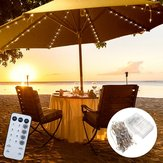 Batterie Powered Patio Umbrella 104 LED Fairy Holiday String Licht mit 8 Modi Knopfschalter