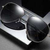 Óculos de sol de armação grande de metal para homens Óculos de sol para motorista com óculos de sol polarizados