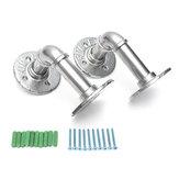 2 piezas Steampunk Industrial Steel Pipe Shelf Brackets tubo de hierro con tornillos Tuberías accesorios