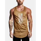 6 Colors Mens Text Print Workout Fitness Sleeveless Sport Tank Tops