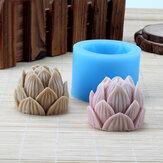 3D اليدوية سيليكون لوتس زهرة الصابون العفن شمعة صنع قالب الراتنج