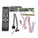 Dijital Sinyal M3663.03B DVB-T2 Evrensel LCD TV Denetleyici Sürücü Kartı TV / PC / VGA / HDMI / USB + 7 Tuş Düğmesi + 2ch 6bit 40pin LVDS Kablo