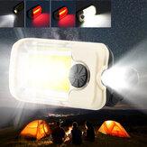 Аккумуляторная COB LED Work Light Портативный Магнитный Крюк Клип Водонепроницаемы Блики Фонарик для Кемпинг