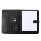 A4 Conference File Folder Soft Leather Portfolio Organiser with Calculator Travel Journal Daily Plan Business Supplies