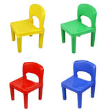 WANGE 1 Piece Assemblable Plastic Children Chair Durable Non-toxic Pure Color Stool for Building Blocks Table for Kids Childrens