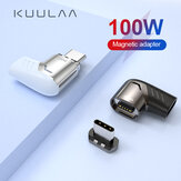 KUULAA 100W/5A USB Type C Magnetic Adapter LED Light Type-C Male To USB C Female Connector For Huawei P40 Mate 40 Pro OnePlus 8Pro 8T