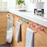 LixodeplásticoBolsaRackde lixo de suspensão portátil Bolsa Rack de armazenamento Rack de armazenamento de lixo de cozinha Bolsa Lata de lixo de suspensão do armário de cozinha