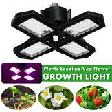 E26 / E27 132LED Grow Light 2835 Vollspektrum 4 Klingen Hydroponic Plant Veg Flower Lamp AC85-265V