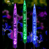2 szt. LED Solar Powered Bubble Bubble RGB Light Zmiana koloru Lampa ogrodowa Garden Decor