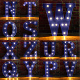 Vintage LED DIY Letter N to Z Sign Blue Decorations Advertising light