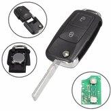 Auto 433MHz ID48 Chips 2 BTN Remote Key Fob Alarm Flip Uncut für VW 1J0 959 753 AG