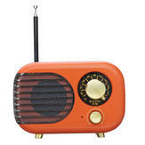 Portable Retro Radio FM bluetooth Speaker TF Card USB Rechargeable AUX Music Player