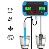 PTT-2826 Professional 3 in 1 pH/TDS/TEMP Water Quality Detector pH Controller with Relay EU Plug Repleaceable Electrode BNC Type Probe Water Quality Tester for Aquarium Hydroponics Tank Monitor 14.00pH / 1999ppm 19.99ppt