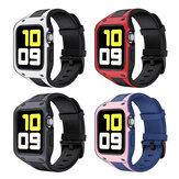 Bakeey 2-in-1 sport casual schokbestendige beschermhoes met TPU horlogebandriem vervangen voor Apple Watch-serie 42 / 44mm