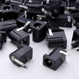 50pz DC-005 Connettore Presa Jack 3 Pin DC Nero 5,5 * 2,1mm