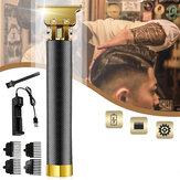Clipper Cabelo Professional Cabelo Kits de aliciamento sem fio recarregáveis com lâmina em T aparador de corte estreito