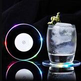 Светодиодное Изменение Цвета Напиток Держатель Чашки Мат Клуб Партии Pad Barware Стикер Декор