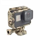 Estrutura de camuflagem cool shell caixa de proteção para shell Gopro Câmera esporte héroe 5