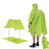 Naturehike NH17D002-M 3 em 1 Portátil Caminhadas Poncho Capa de Chuva Capa de Mochila Camping Mat Sunshade