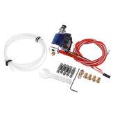 V6 12V Control remoto Kit de extrusora con ventilador de enfriamiento + tubo PTEF + boquilla + conectores neumáticos rápidos + boquilla de garganta para impresora 3D